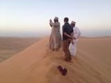 <h5>September: Sabine im Oman</h5><p>Wüstendünen im Oman</p>