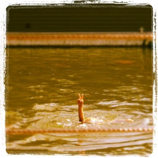 Der Held der Wasserferienwelt