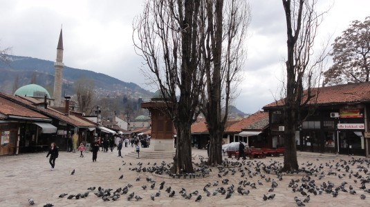 Sarajevo -Baščaršija-Platz in der Altstadt