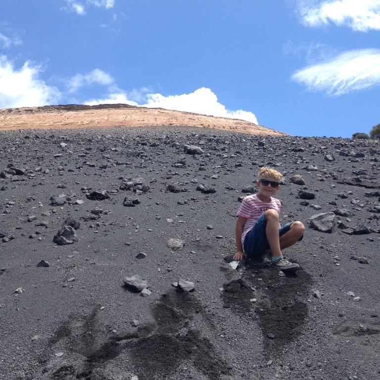 Der Vulkan ist echt steil Liparische Inseln