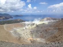 Der Krater vom höchsten Punkt