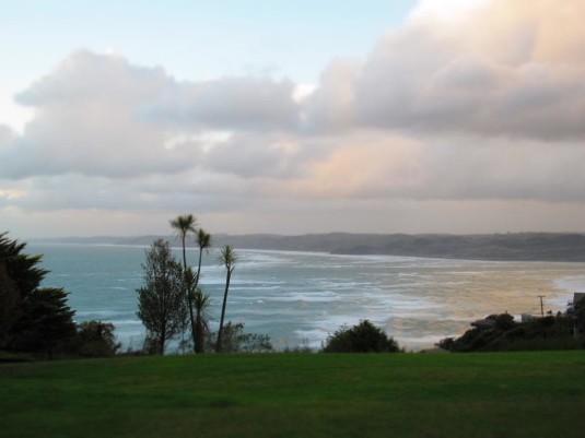 Aussicht auf die Manu Bay