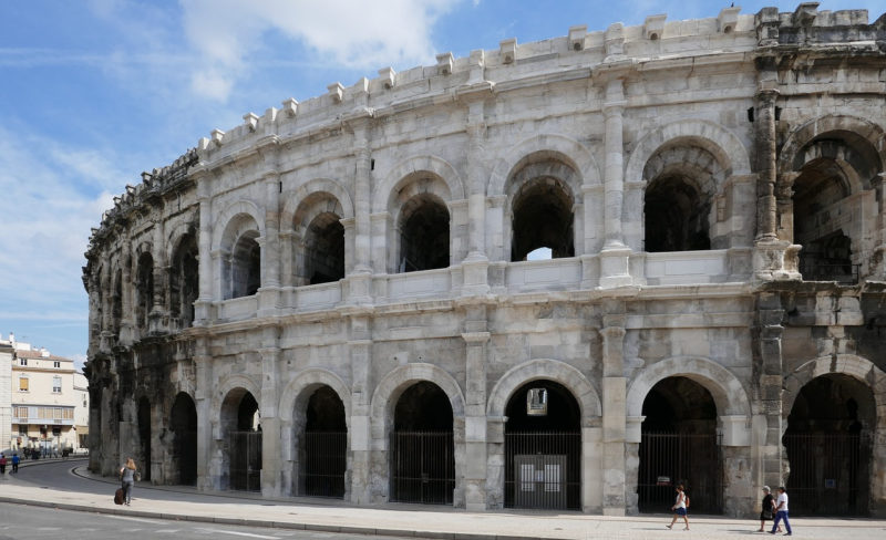 Nimes Amphitheater Frankreich Languedoc