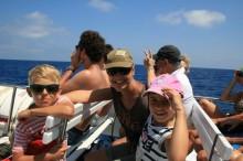 1 Mit Mami und Nelio in den Ferien. Papi fotografiert.