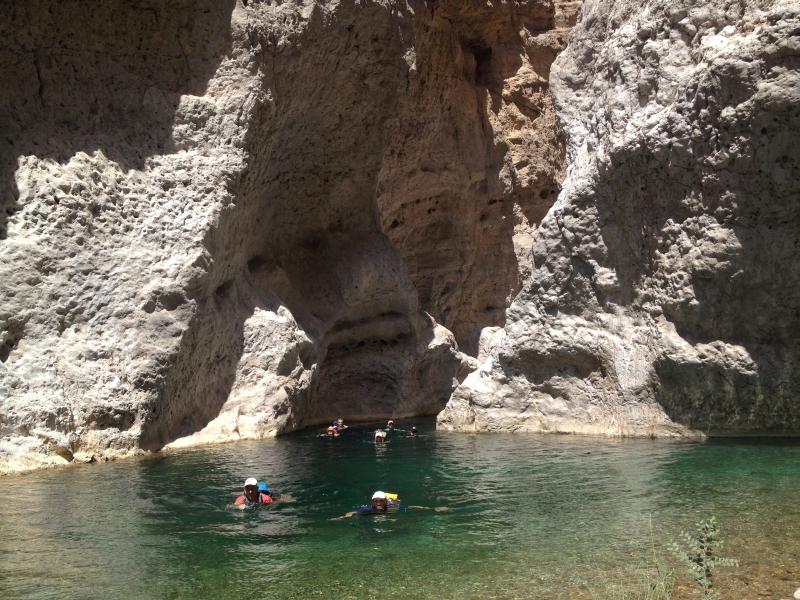 9 Schwimmtrekking im Wadi Bani Khalid