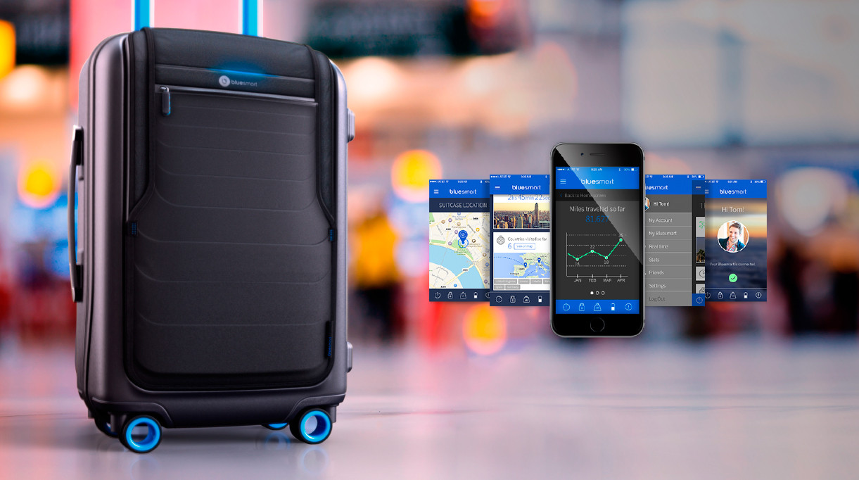 Der innovative Koffer Bluesmart