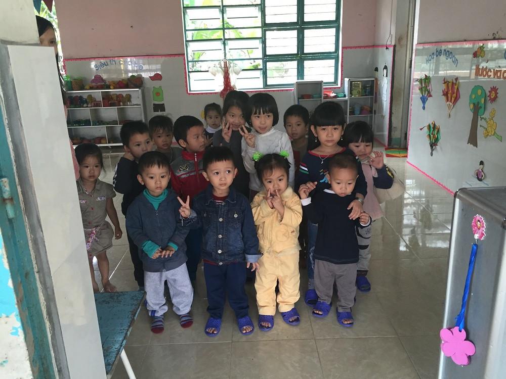 Ein Kindergarten-Besuch stand auch auf dem Programm