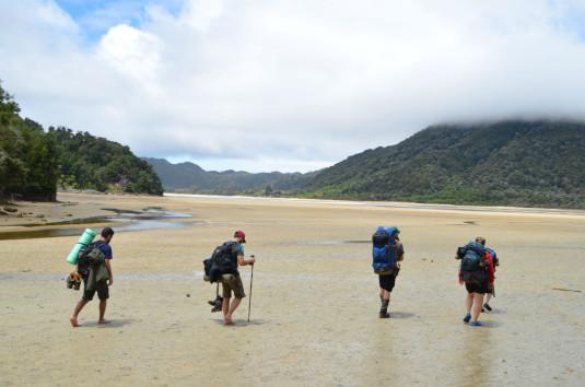 Schwierig zu begehen - die Awaroa Estuary