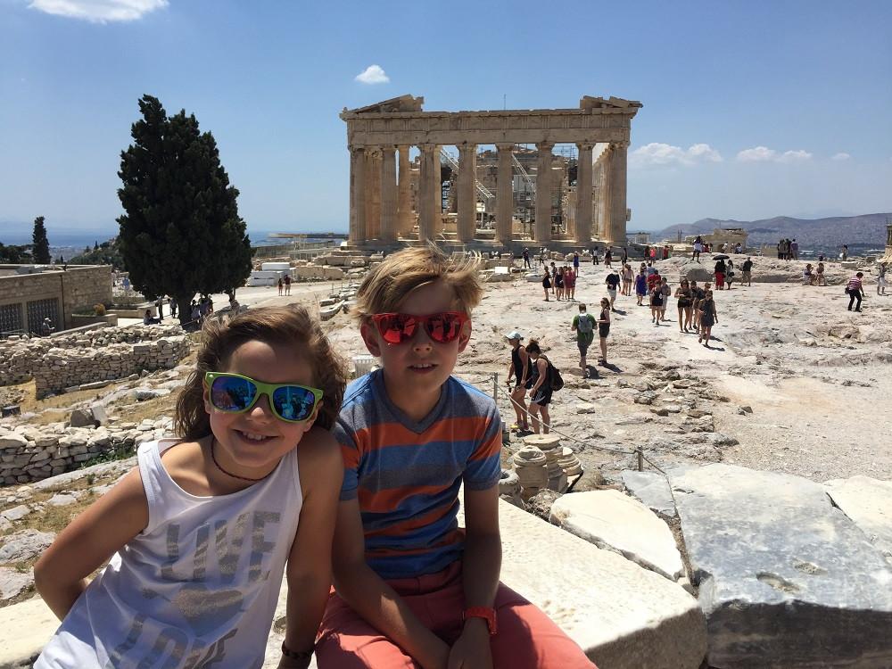 Hier sind wir auf der Akropolis