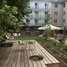 Der Garten kann auch für Anlässe genutzt werden