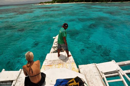 Michèle Hess auf dem Weg nach Mantigue Island