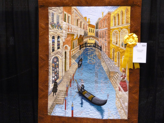 Prämierter Venedig-Quilt an einer Quiltshow