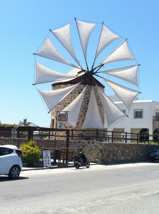 Eine nachgebaute Mühle