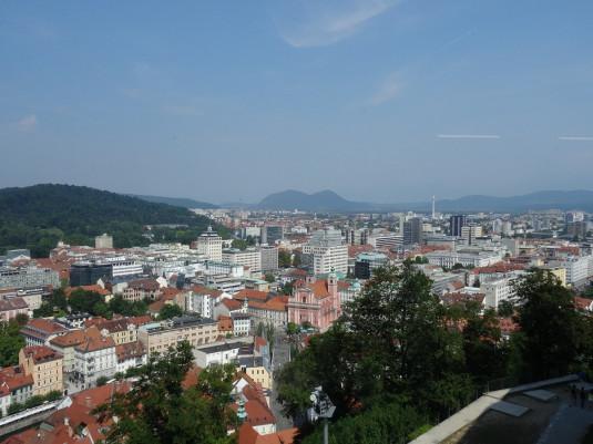 Panoramablick von der Burg
