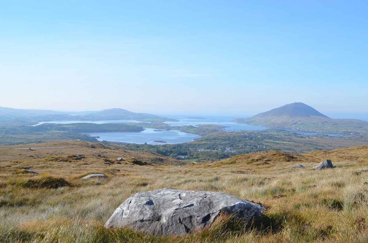 Aussicht vom Diamond Hill Connemara