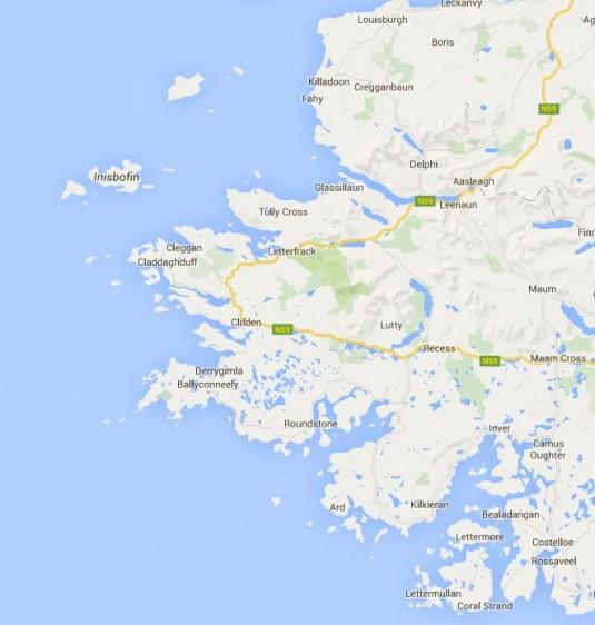 Karte Connemara
