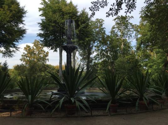 Die Fontäne mit Brunnen