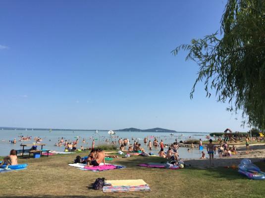 Balaton im Sommer - ein bisschen voll...