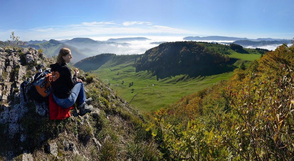 Das ist die Aussicht vom Vogelberg