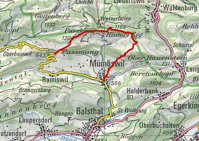 Karte WWF Passwang
