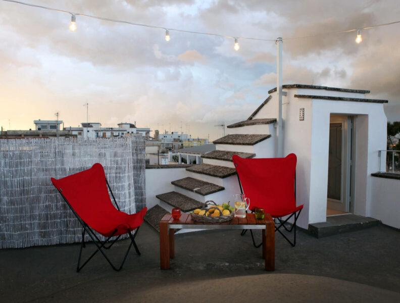 Dachterrasse Hotel Fasano Italien Apulien