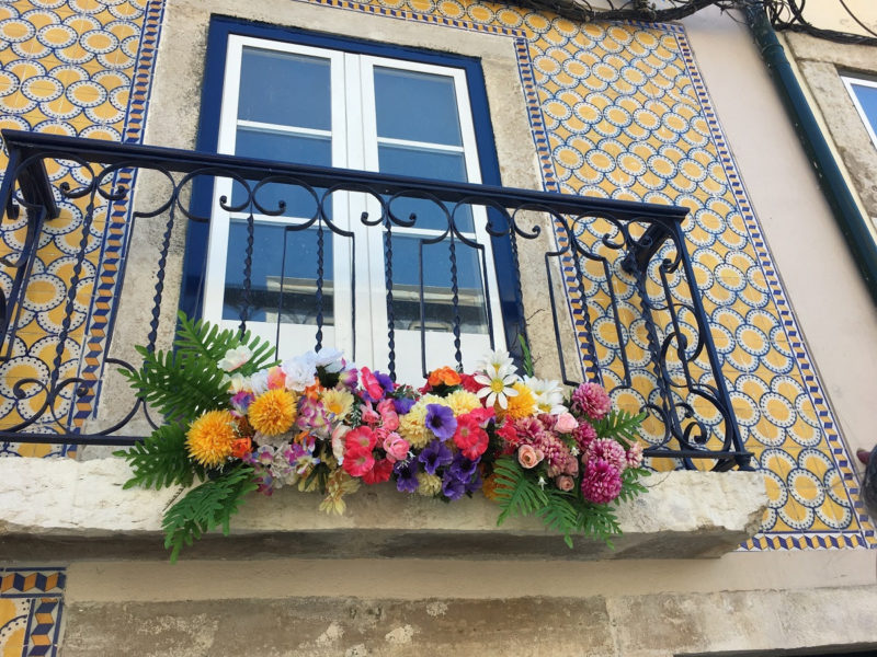 Kacheln Lissabon Kunst Blumen