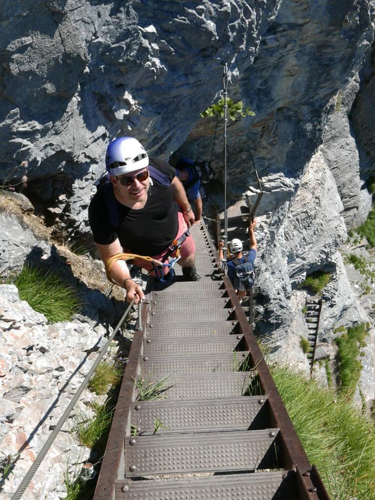 Klettern Flims Pinut