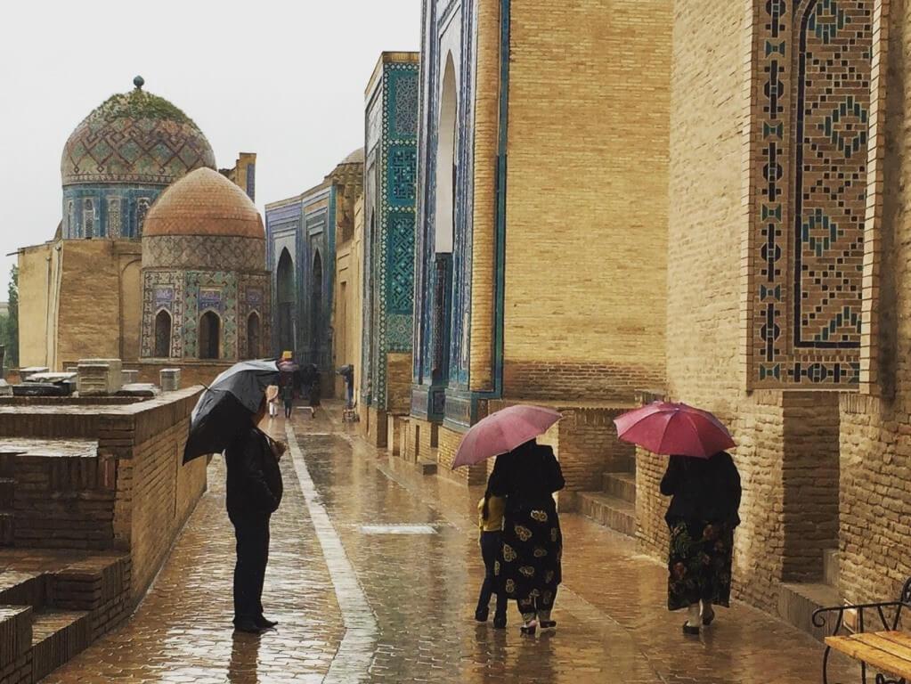 Usbekistan Samarkand Shahisinda Totenstadt
