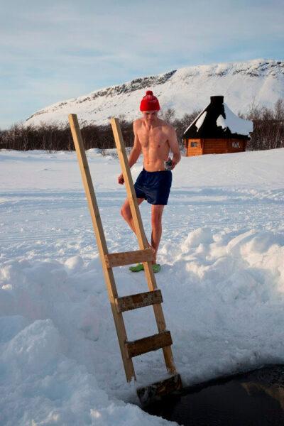 Saunatour Finnland Eisloch Lappland
