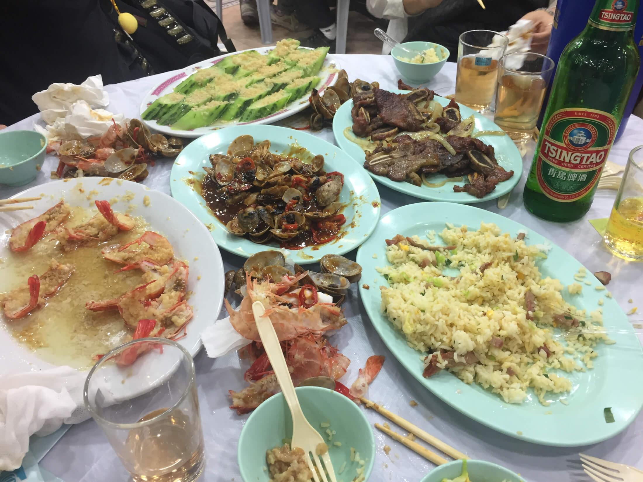 hongkong china essen markt streetfood