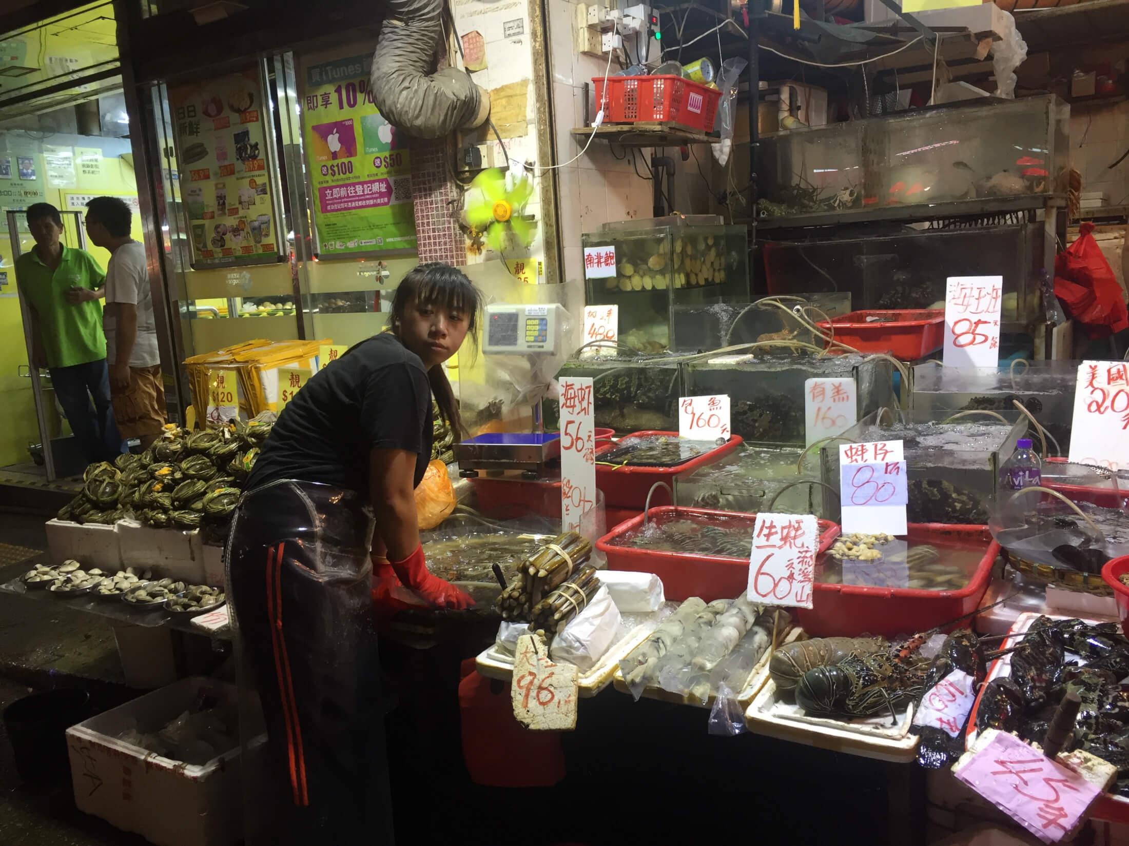 hongkong food markt essen strassenmarkt