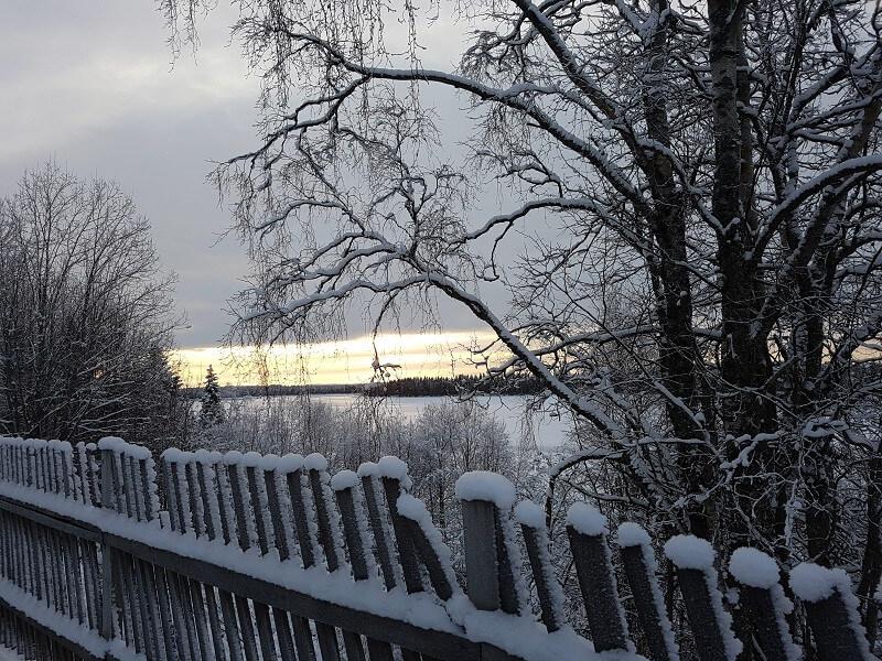 Winter Lappland Ferien Finnland