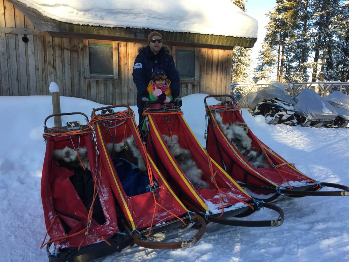 lappland-schweden huskys hundeschlitten mushen winter schnee landschaft