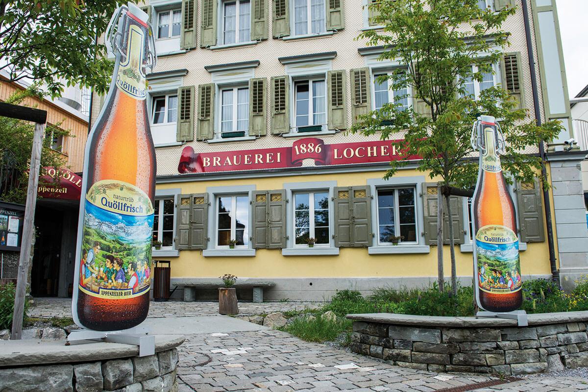 Appenzeller Bier Schweiz Brauerei Terrasse