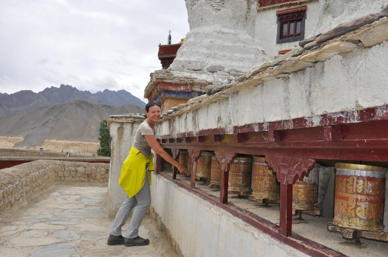 kloster lamayuru indien tibet gebirge