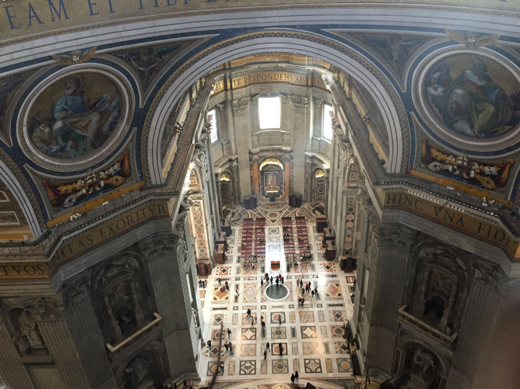 rom-vatikan-petersdom kuppel aussicht innen italien
