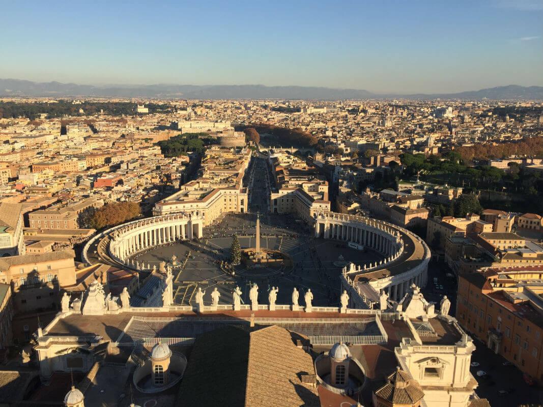 rom-vatikan-petersdom kuppel aussicht italien