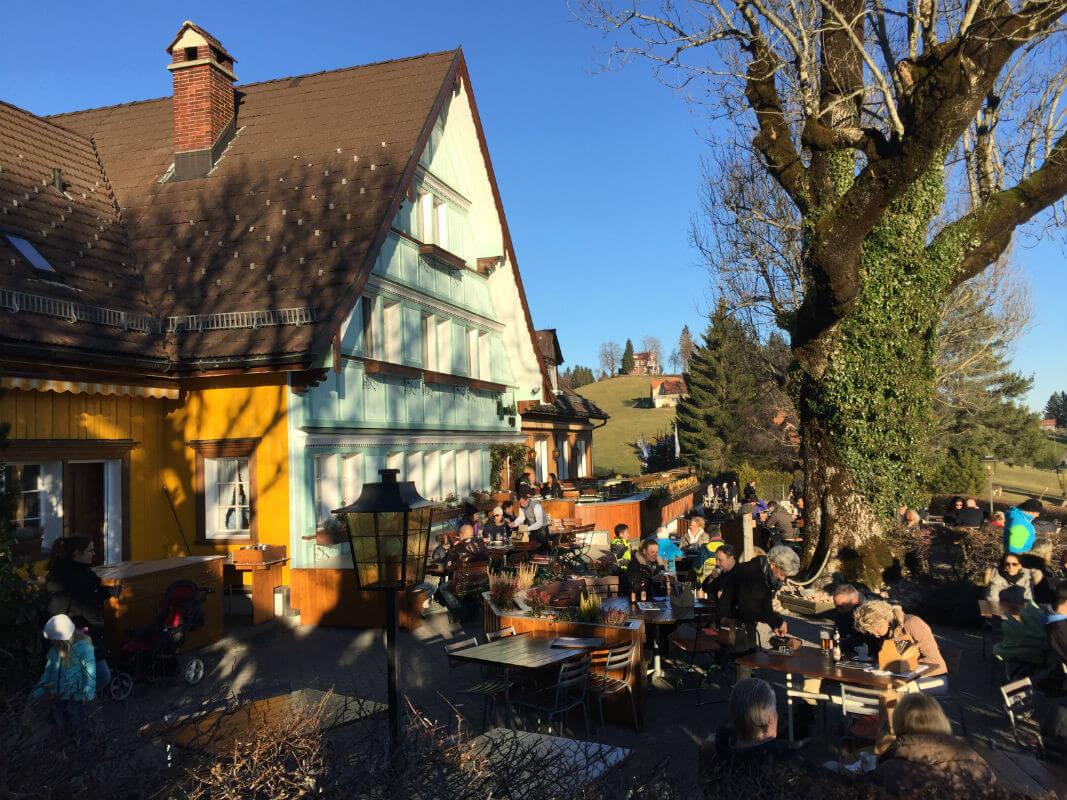 Terrasse Schweiz Beiz Restaurant Appenzell