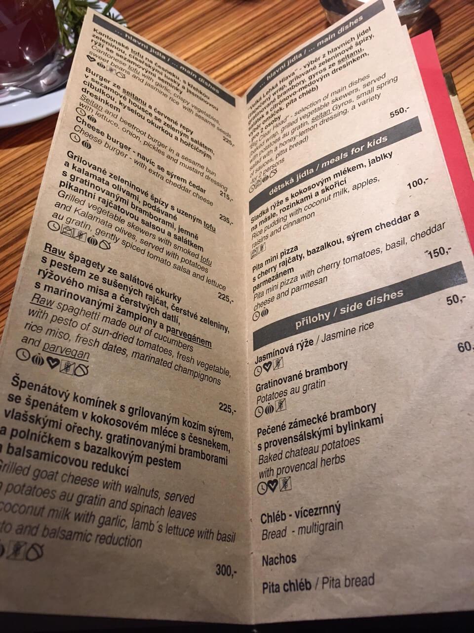 Restauranttipp Prag Vegetarisch Vegeterian
