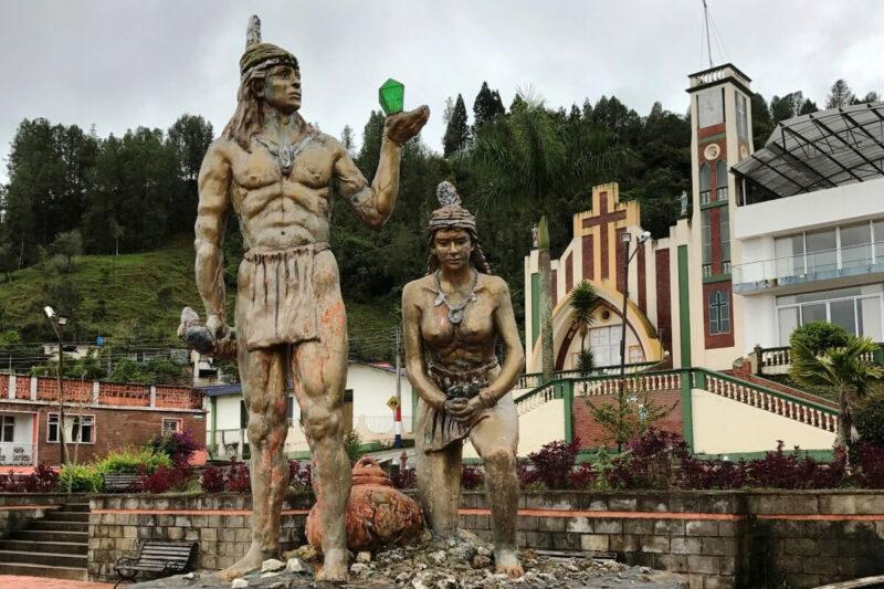 Statue Kolumbien Chivor