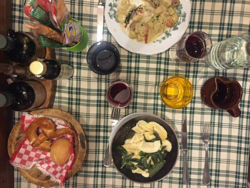 Bergamo Abendessen