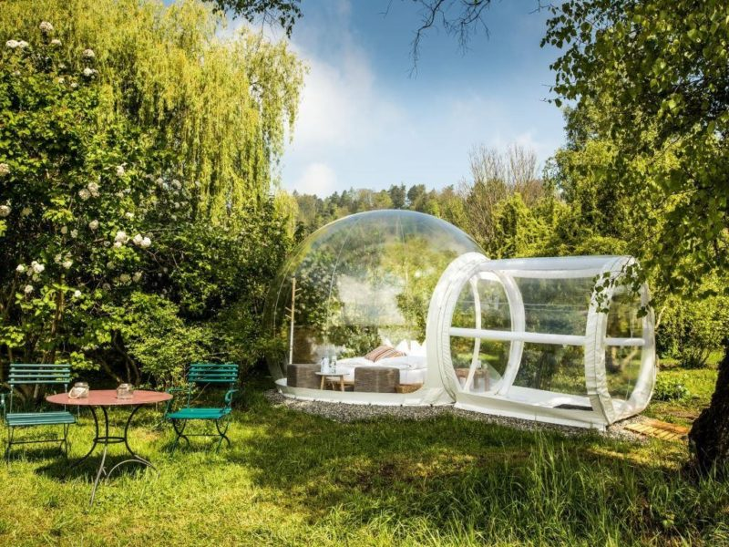 Bubble-Hotel-Kartause-Ittingen-Thurgau-Warth-Tourismus-Himmelbett