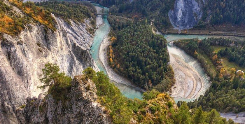Die Rheinschlucht, der Grand Canyon der Schweiz