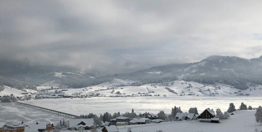 Schlendernd durchs verschneite Einsiedeln